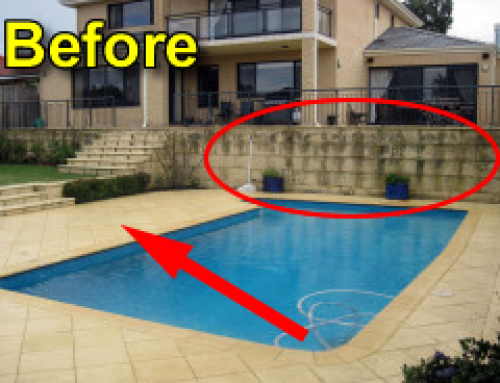 Swimming Pool Cleaning – Rust and Moss Removal