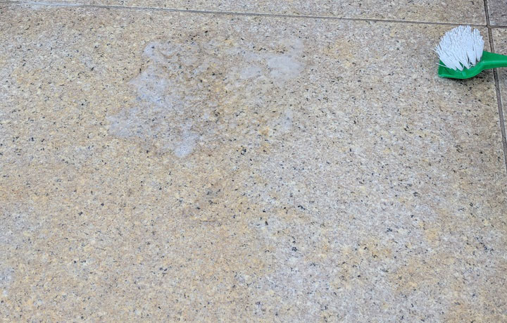 remove rust from granite tiles