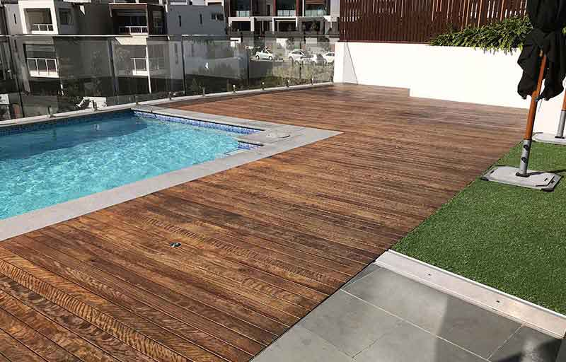 timber deck staining