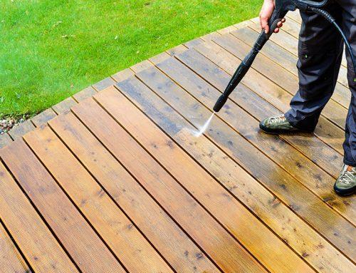 Timber Deck Washing