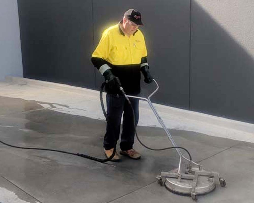 driveway spinjet cleaning