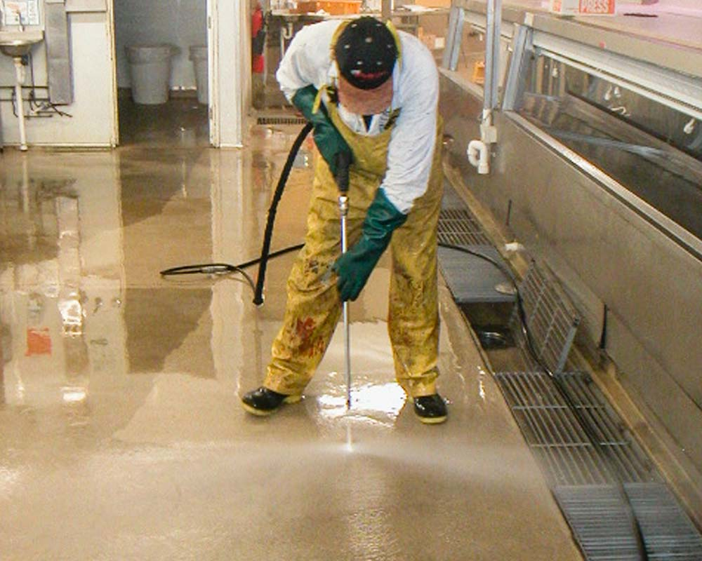 grease floor cleaning