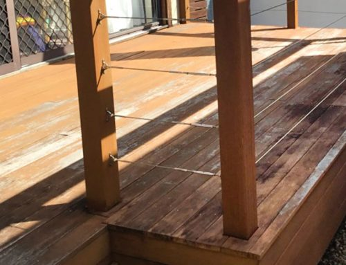 Badly Weathered Decking